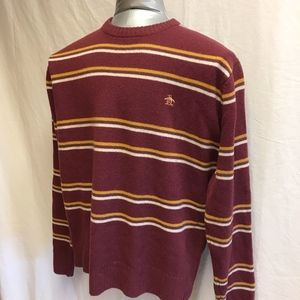 Original Penguin Striped Wool Sweater - Size XL